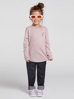 Little Girls Made From Stoke Long Sleeve - Faded Mauve (B35319L0_FMV) [F]