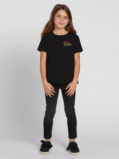 Big Girls Wav-ello Tee - Black (B35319Y2_BLK) [F]
