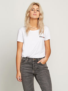 Easy Babe Rad 2 Tee In White, Front View