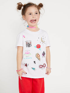 Little Girls Last Party Tee - White (B35419L0_WHT) [F]