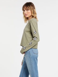 The Volcom Stones Long Sleeve - Green Tea (B3632000_GRT) [1]