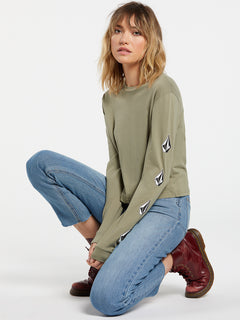 The Volcom Stones Long Sleeve - Green Tea (B3632000_GRT) [21]