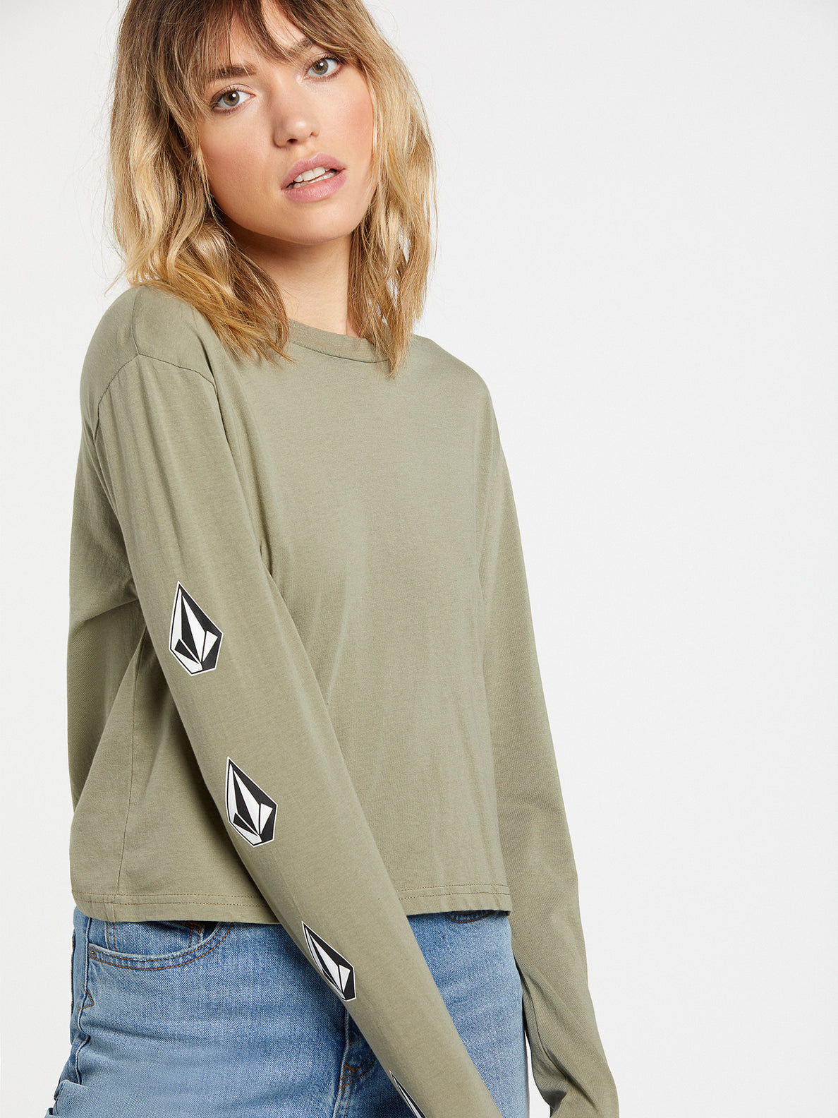 The Volcom Stones Long Sleeve - Green Tea (B3632000_GRT) [30]