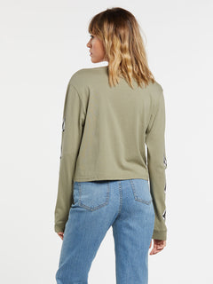 The Volcom Stones Long Sleeve - Green Tea (B3632000_GRT) [B]