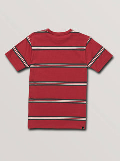 Big Boys Beauville Crew Short Sleeve Tee In Burgundy, Back View