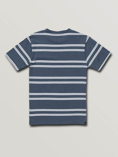 Big Boys Beauville Crew Short Sleeve Tee In Indigo, Back View