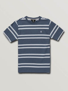 Big Boys Beauville Crew Short Sleeve Tee In Indigo, Front View