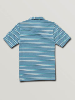 Big Boys Wowzer Stripe Polo In Vintage Blue, Back View