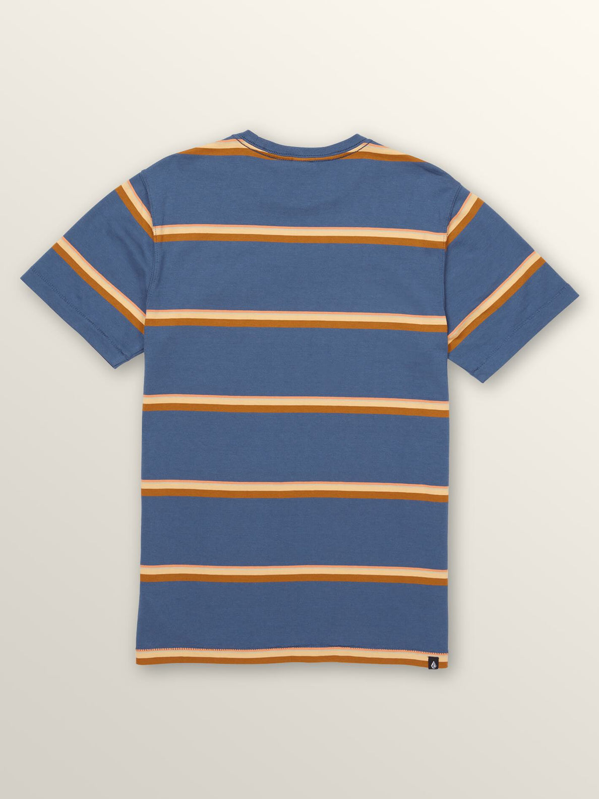 Big Boys Sheldon Crew Tee In Deep Blue, Back View