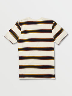 Big Boys Da Fino Stripe Crew Short Sleeve Top - Primer White (C0132003_PWT) [B]