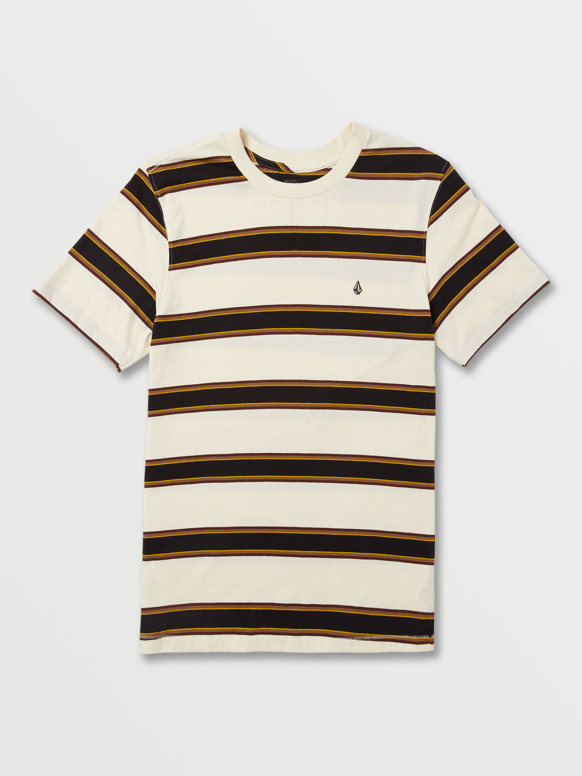 Big Boys Da Fino Stripe Crew Short Sleeve Top - Primer White (C0132003_PWT) [F]