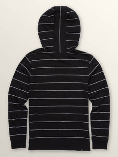 Big Boys Wallace Long Sleeve Hoodie In Black, Back View