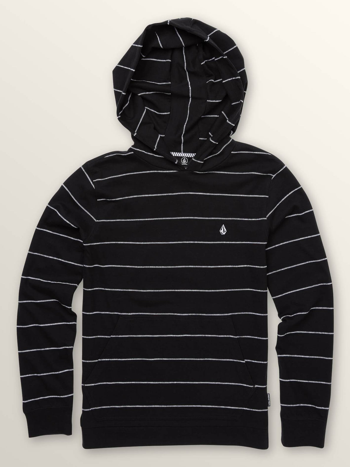 Big Boys Wallace Long Sleeve Hoodie In Black, Front View