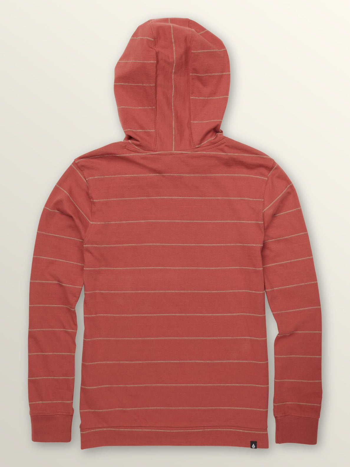 Big Boys Wallace Long Sleeve Hoodie In Dead Rose, Back View