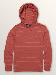 Big Boys Wallace Long Sleeve Hoodie In Dead Rose, Front View