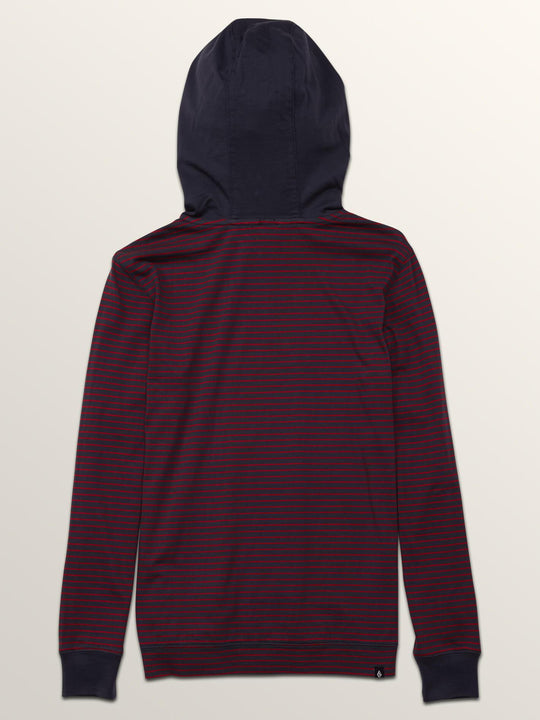 Big Boys Randall Long Sleeve Hoodie In Midnight Blue, Back View