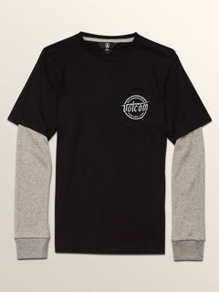 Big Boys Wilmore Two Fer Tee In Black, Front View