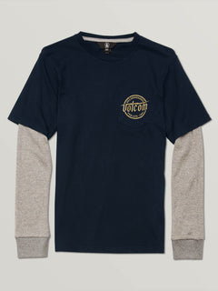 Big Boys Wilmore Two Fer Tee In Navy, Front View