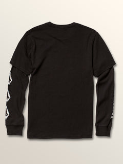 Big Boys West Two Fer Tee In Black, Back View