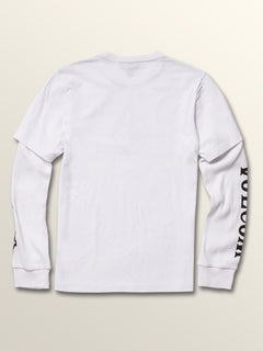 Big Boys West Two Fer Tee In White, Back View