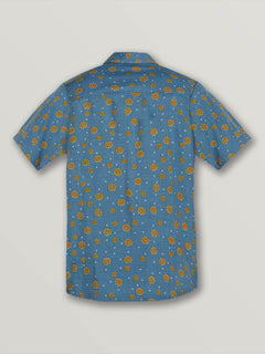 Big Boys Psych Dot Short Sleeve Shirt In Indigo, Back View