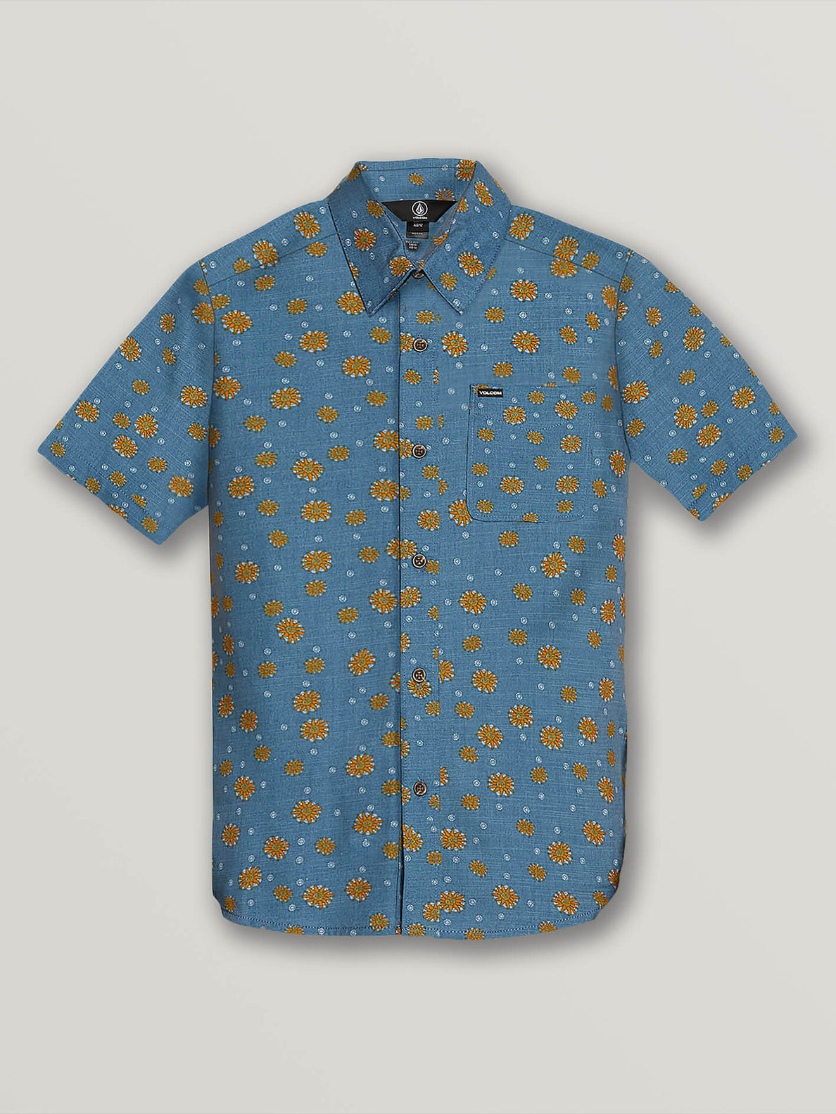Big Boys Psych Dot Short Sleeve Shirt In Indigo, Front View