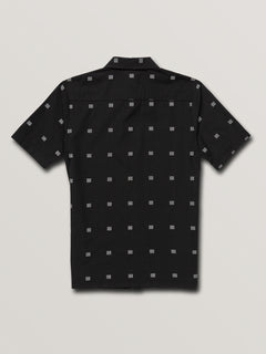Big Boys Morty Short Sleeve Shirt In Black, Back View