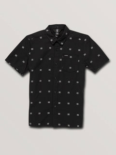 Big Boys Morty Short Sleeve Shirt In Black, Front View