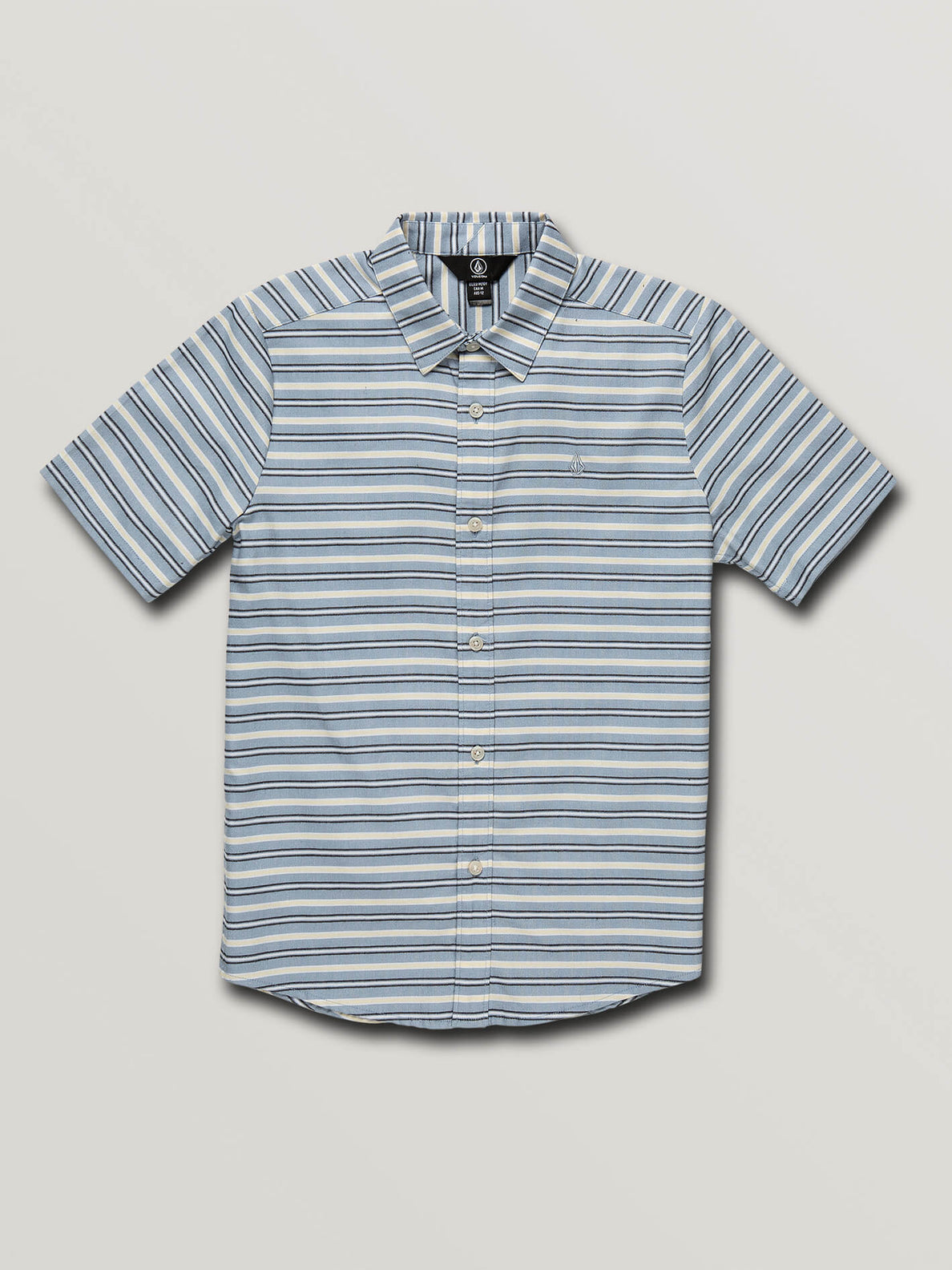 Big Boys Vert Toner Short Sleeve Shirt In Wrecked Indigo, Front View