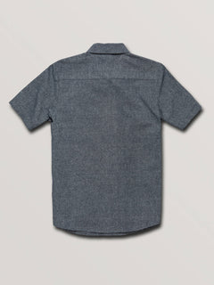 Big Boys Mag Vibes Short Sleeve Shirt In Indigo, Back View