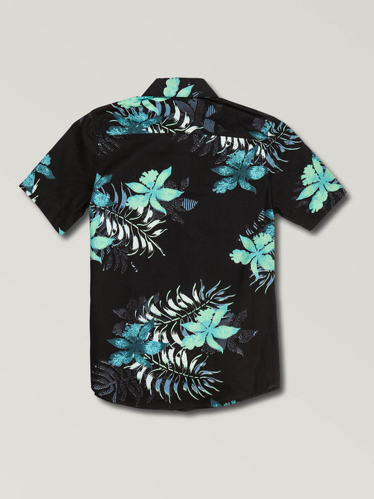 Big Boys Wave Fayer Short Sleeve Shirt In Black, Back View
