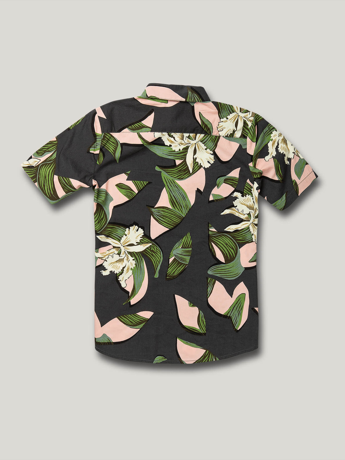 Cut Out Floral Short Sleeve - Dark Charcoal (C0422006_DCR) [B]