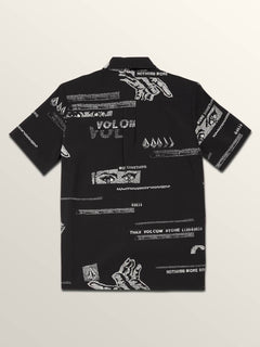 Big Boys More Something Short Sleeve Shirt In Black, Back View