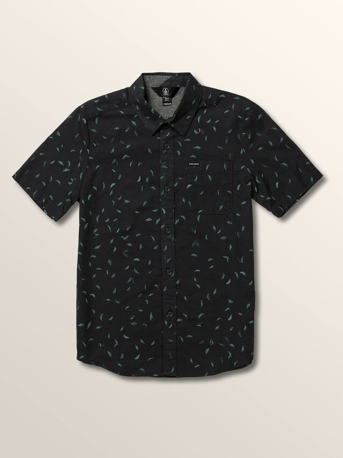 Big Boys Quency Dot Short Sleeve Shirt In Asphalt Black, Front View