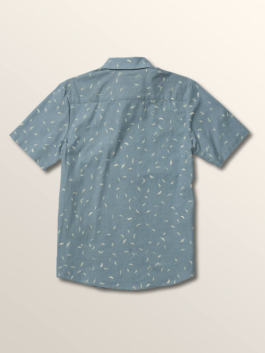 Big Boys Quency Dot Short Sleeve Shirt In Slate Blue, Back View