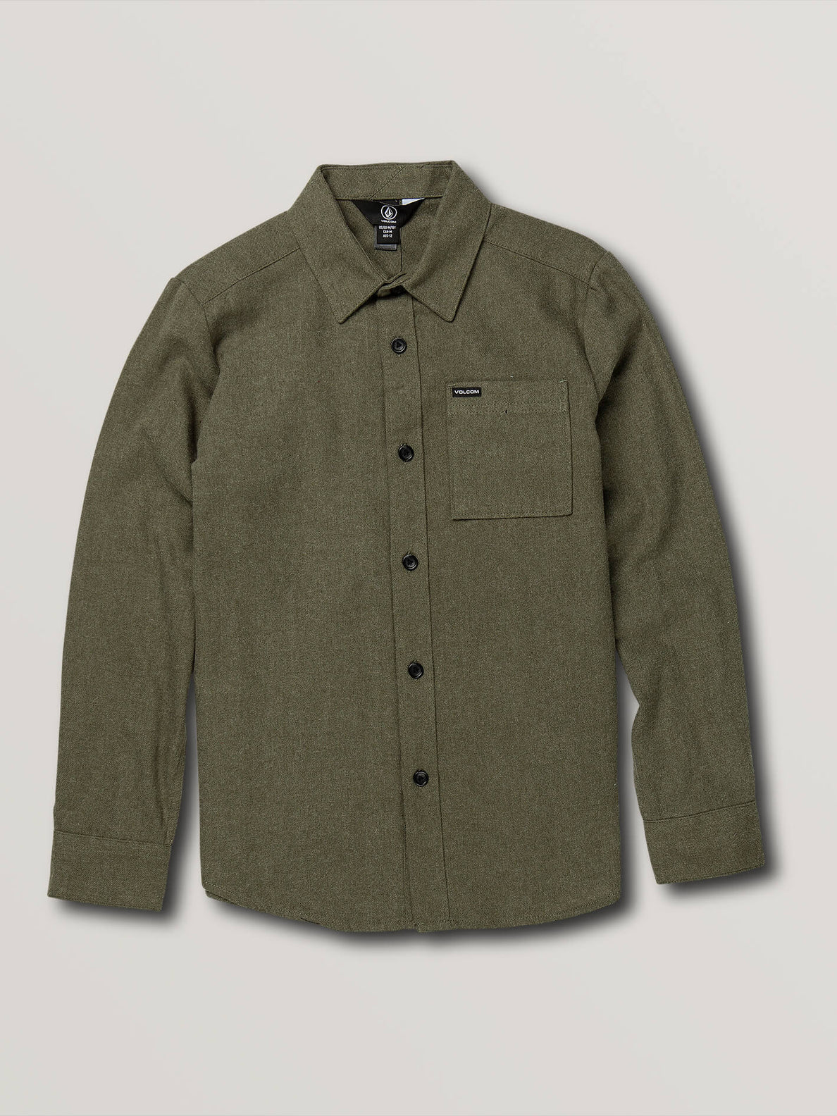 Big Boys Caden Solid Long Sleeve - Army Green Combo