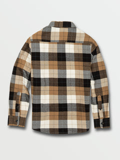 Big Boys Caden Plaid Long Sleeve Flannel - Primer White (C0532005_PWT) [B]