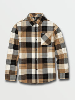 Big Boys Caden Plaid Long Sleeve Flannel - Primer White (C0532005_PWT) [F]