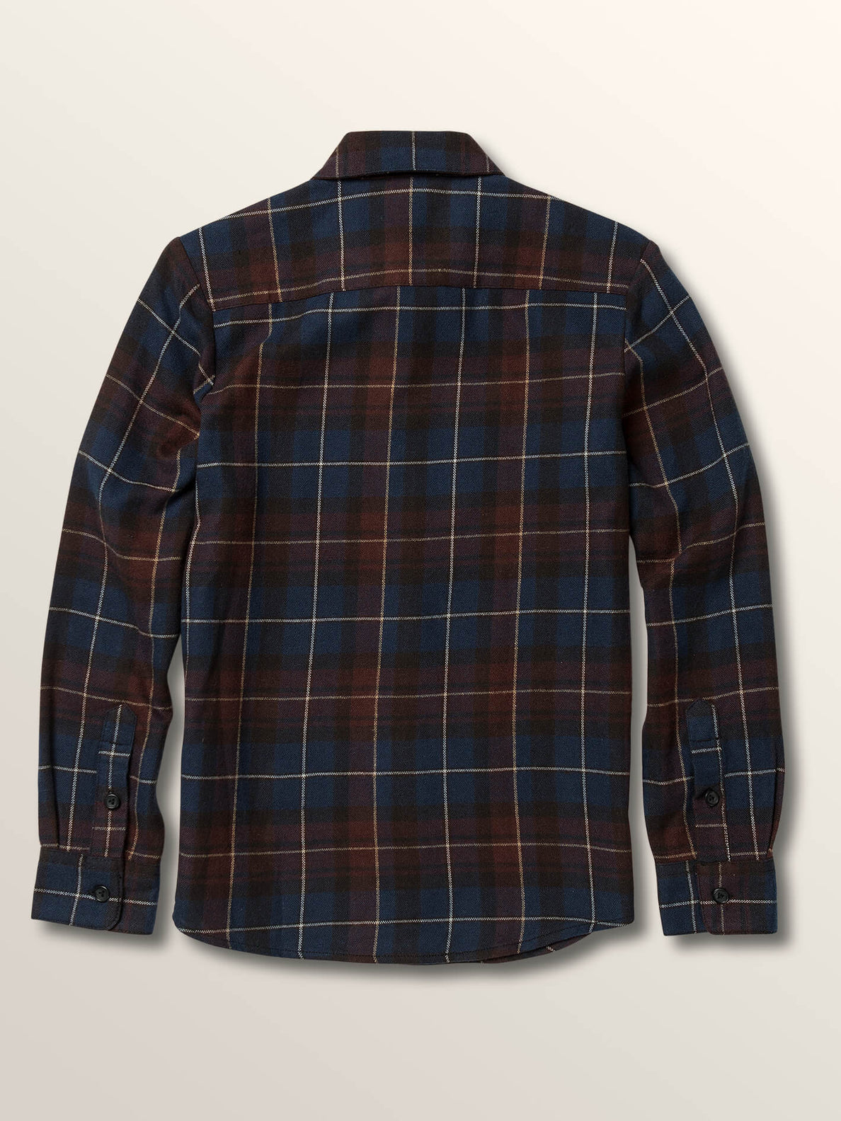 Big Boys Lumberg Long Sleeve Flannel In Melindigo, Back View