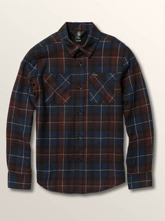 Big Boys Lumberg Long Sleeve Flannel In Melindigo, Front View