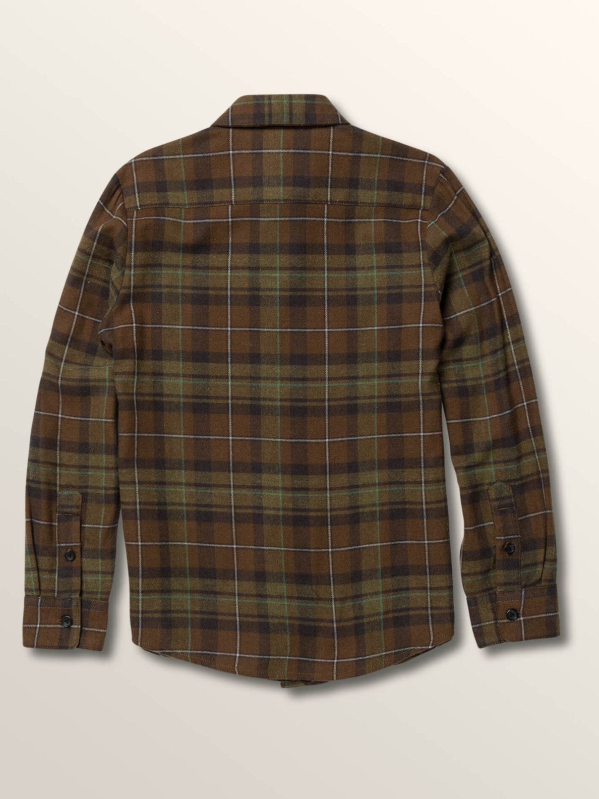 Big Boys Lumberg Long Sleeve Flannel In Vineyard Green, Back View