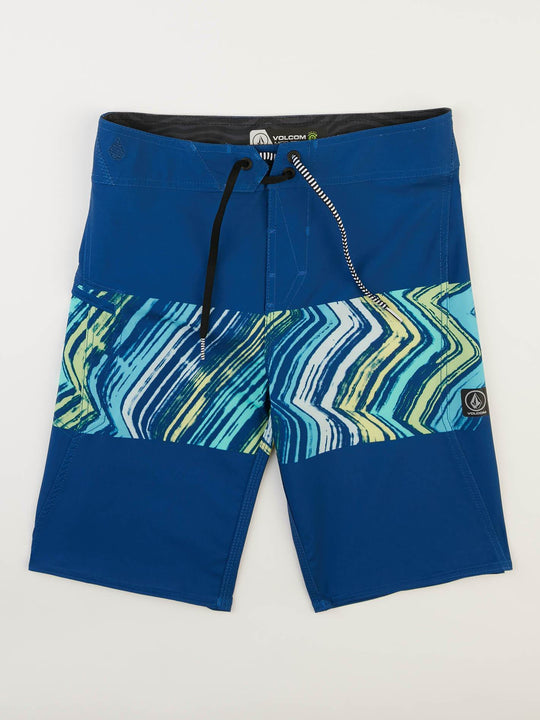 Big Boys Macaw Mod Boardshorts In Camper Blue, Front View