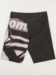 Big Boys Liberate Mod Boardshorts In Black, Back View