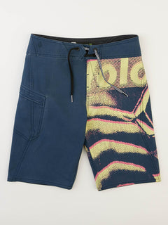 Big Boys Liberate Mod Boardshorts In Indigo, Front View