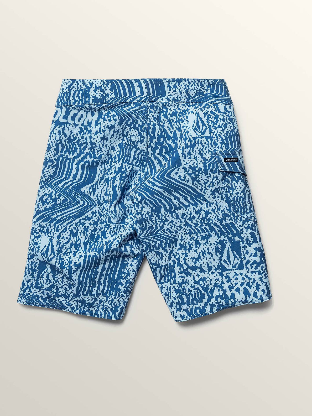 Big Boys Logo Plasm Mod Boardshorts In Arctic Blue, Back View
