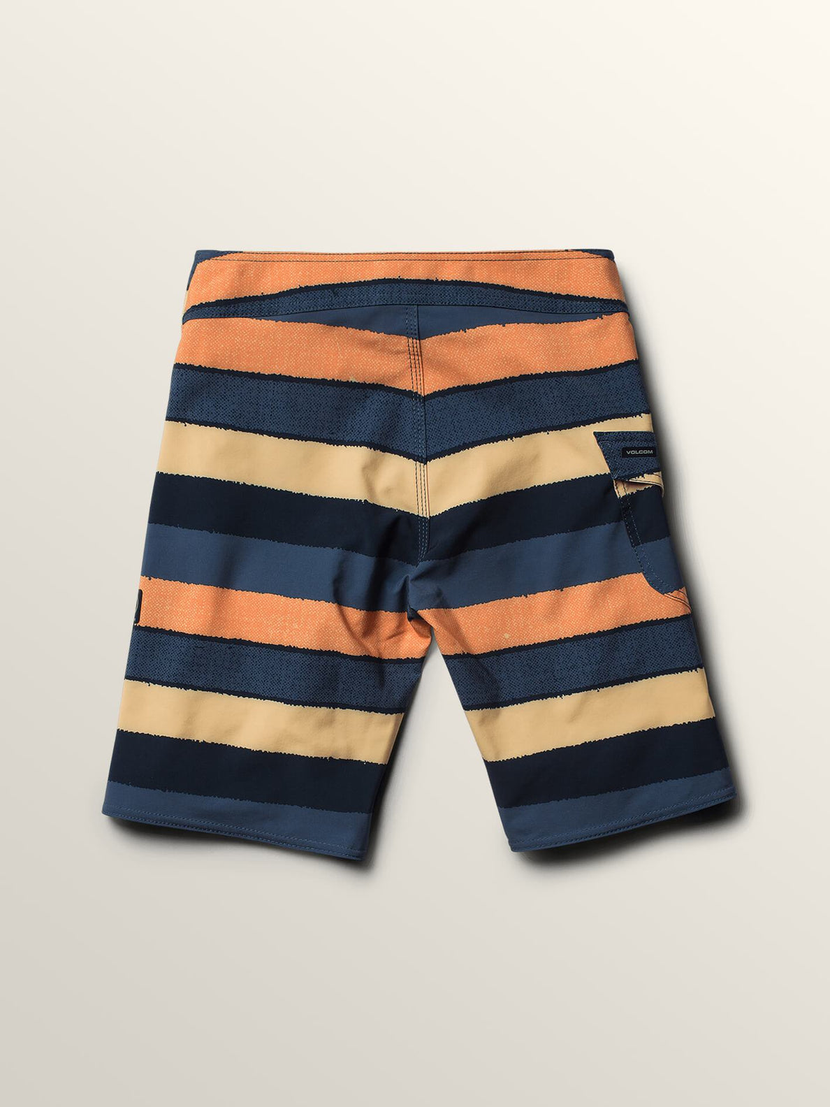 Big Boys Magnetic Liney Mod Boardshorts In Sunburst, Back View