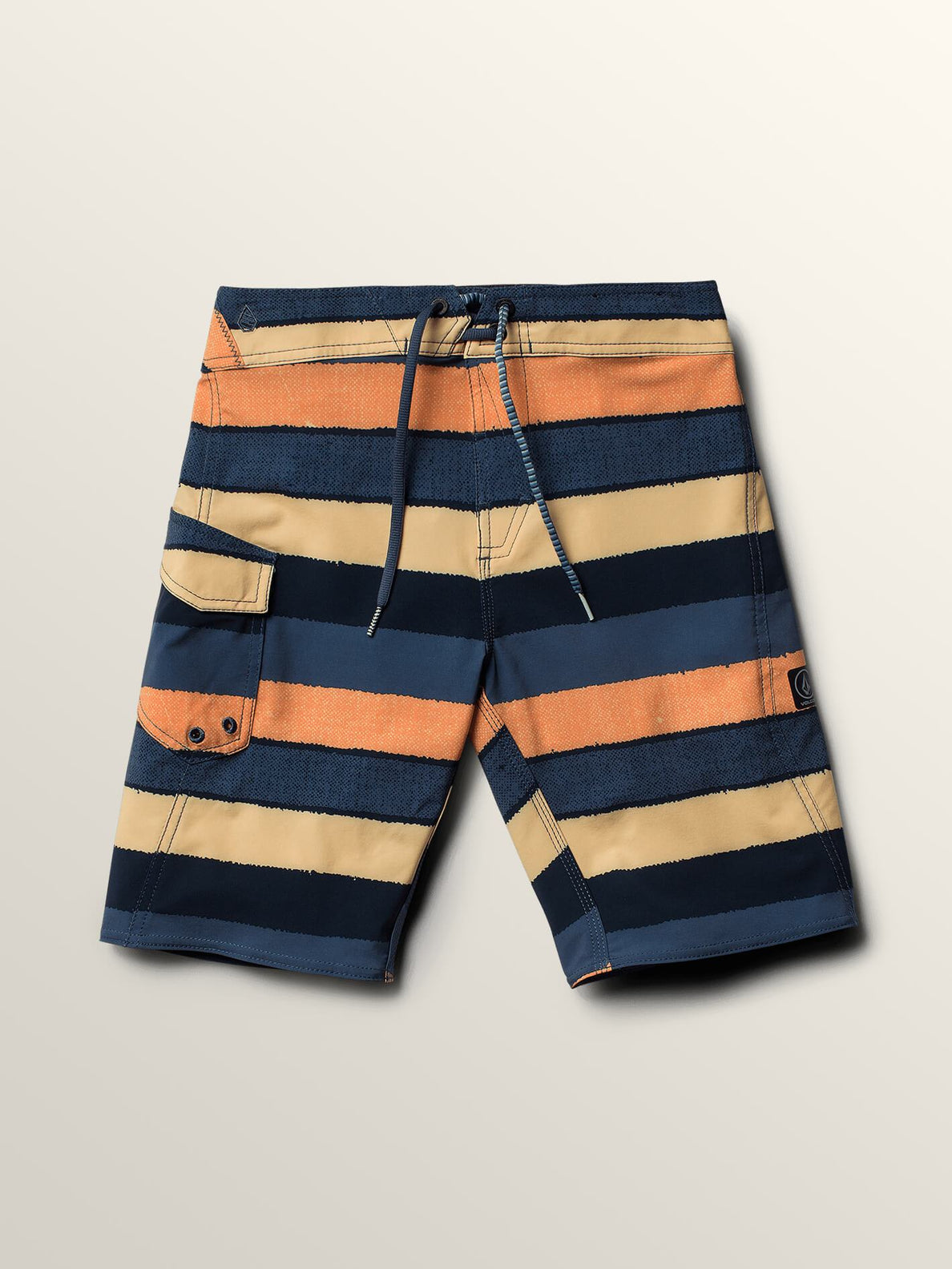 Big Boys Magnetic Liney Mod Boardshorts In Sunburst, Front View