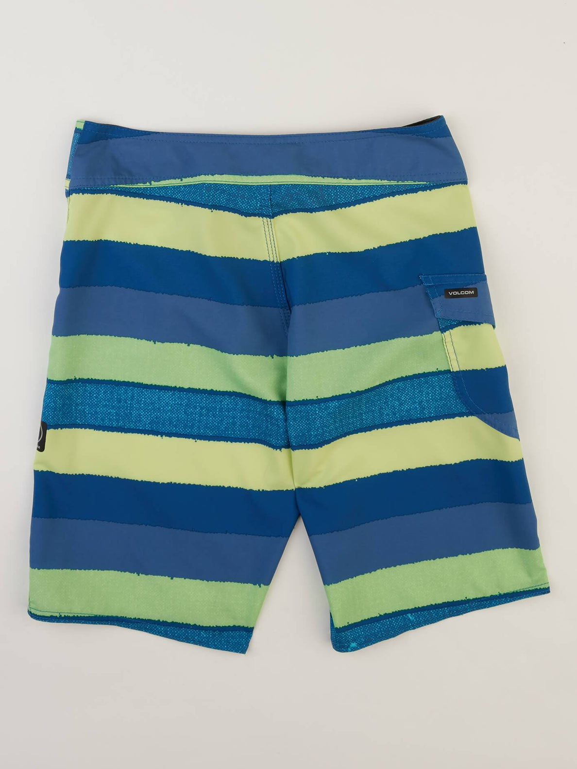 Big Boys Magnetic Liney Mod Boardshorts In Shadow Lime, Back View