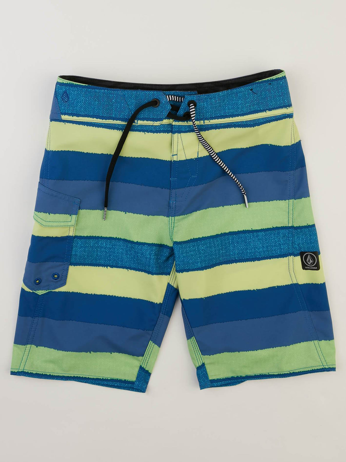 Big Boys Magnetic Liney Mod Boardshorts In Shadow Lime, Front View