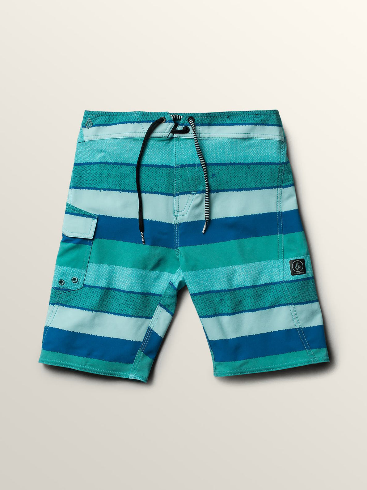 Big Boys Magnetic Liney Mod Boardshorts In Turquoise, Front View
